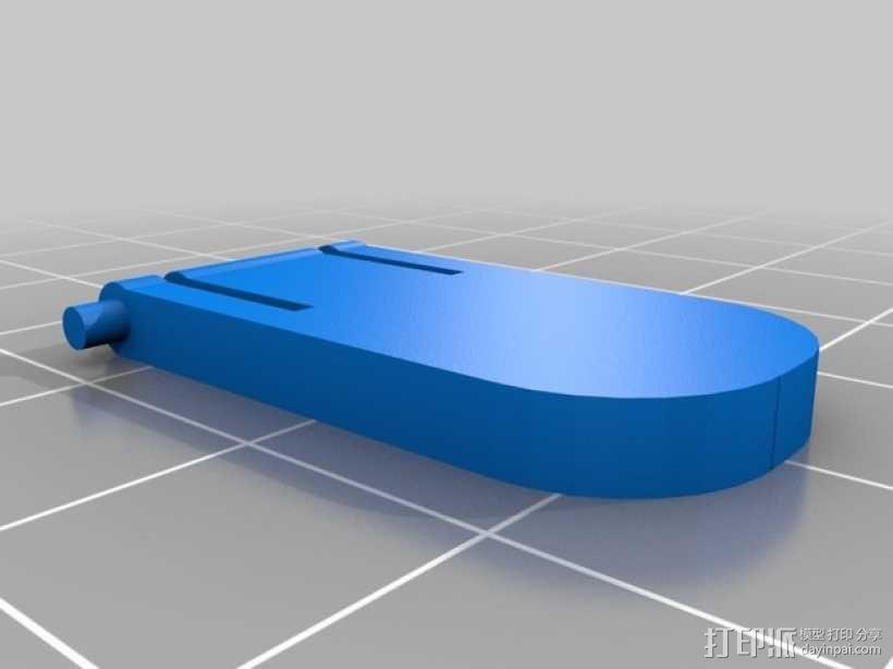 HP KU-1156  键盘固定腿 3D模型  图1
