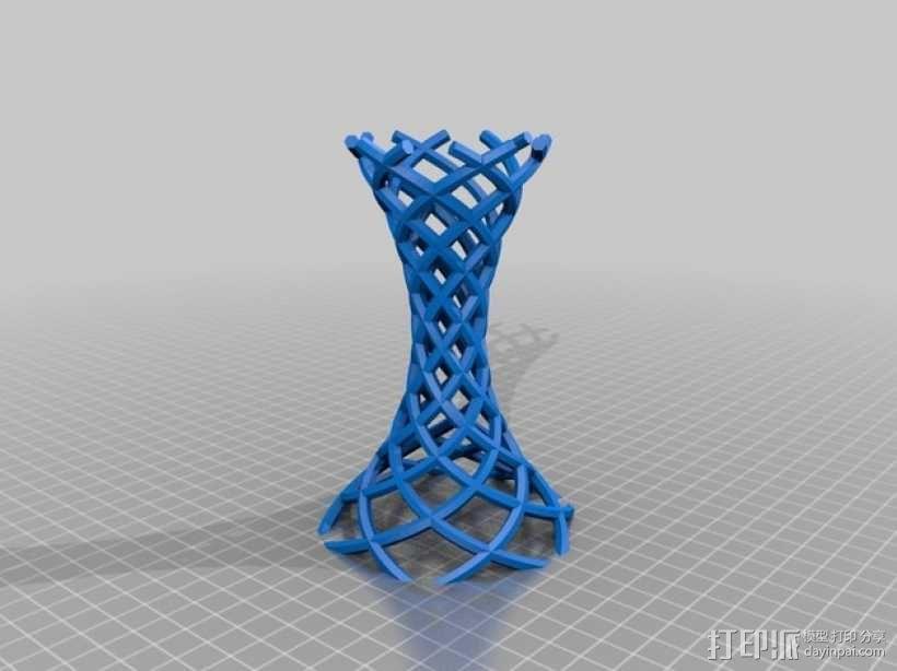 螺旋镂空烛台 3D模型  图2