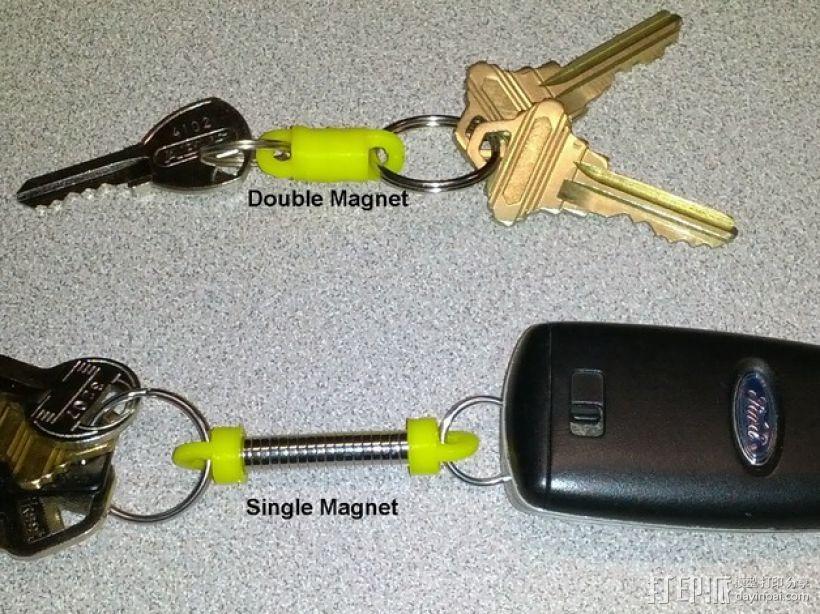 磁力钥匙扣连接装置 3D模型  图1
