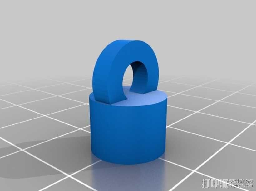 磁力钥匙扣连接装置 3D模型  图3