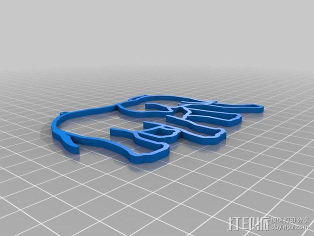 大象 窗贴 3D模型  图2