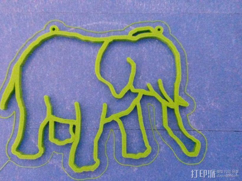 大象 窗贴 3D模型  图1