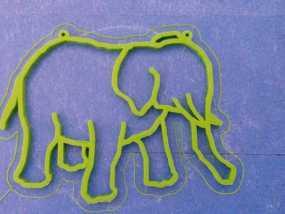 大象 窗贴 3D模型