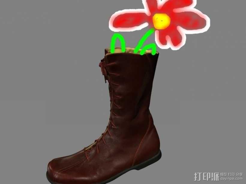 左靴 笔筒/花瓶 3D模型  图2
