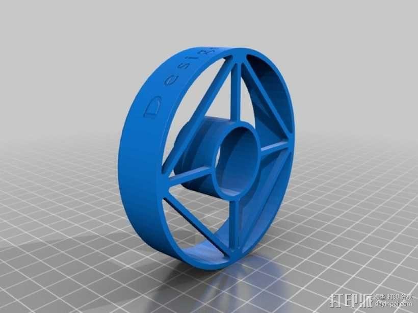 甜甜圈印 模具 3D模型  图1