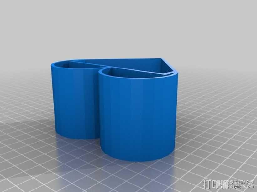 魔法豆 心形花盆 3D模型  图3