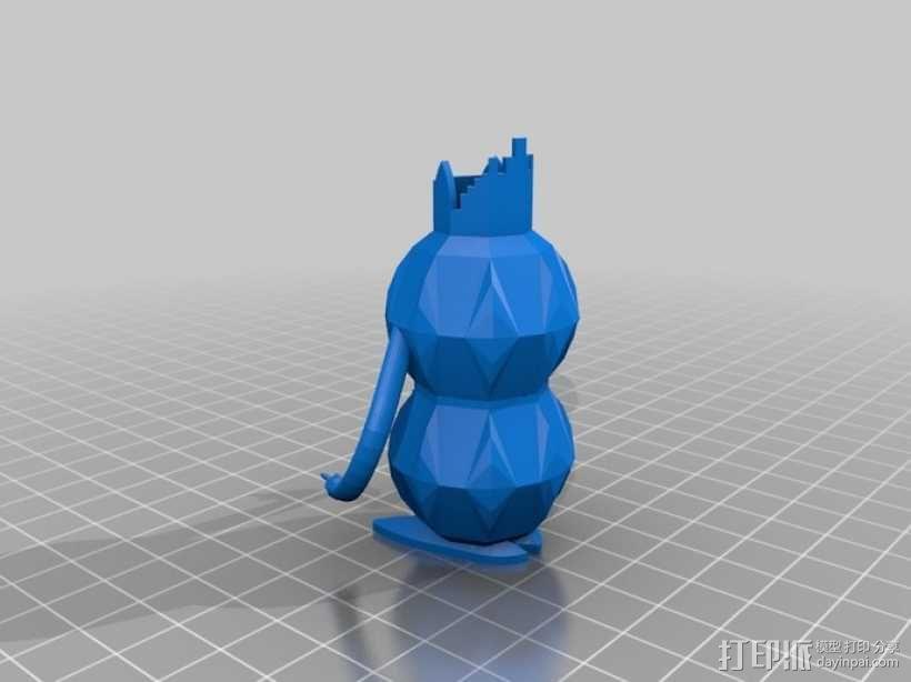 电动牙刷盒 3D模型  图1