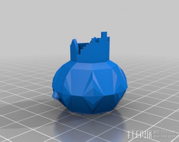 电动牙刷盒 3D模型  图3