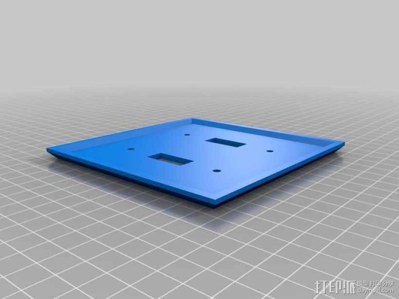 双头灯开关面板 3D模型  图1