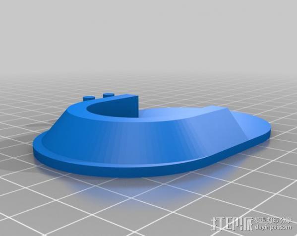 衣柜杆座 3D模型  图1