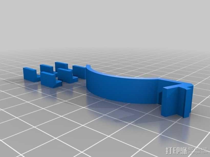 心形相框 3D模型  图3
