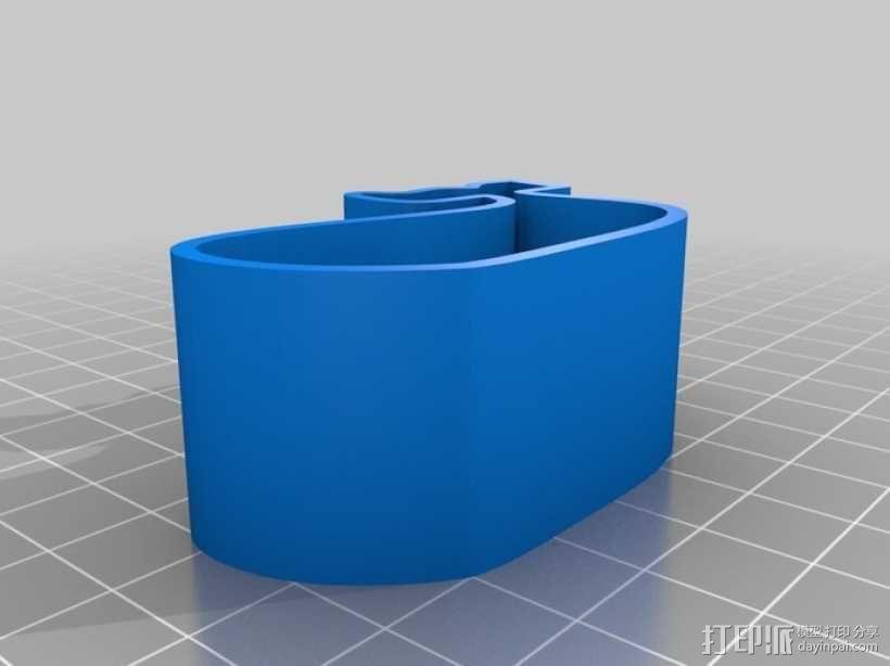 鲸鱼 饼干制作模具 3D模型  图1