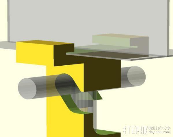标记物固定夹 3D模型  图3