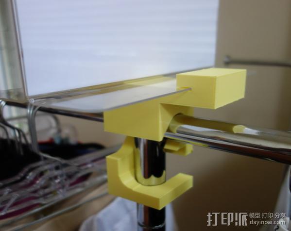 标记物固定夹 3D模型  图2