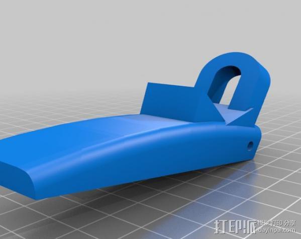 软管喷头手柄 3D模型  图2