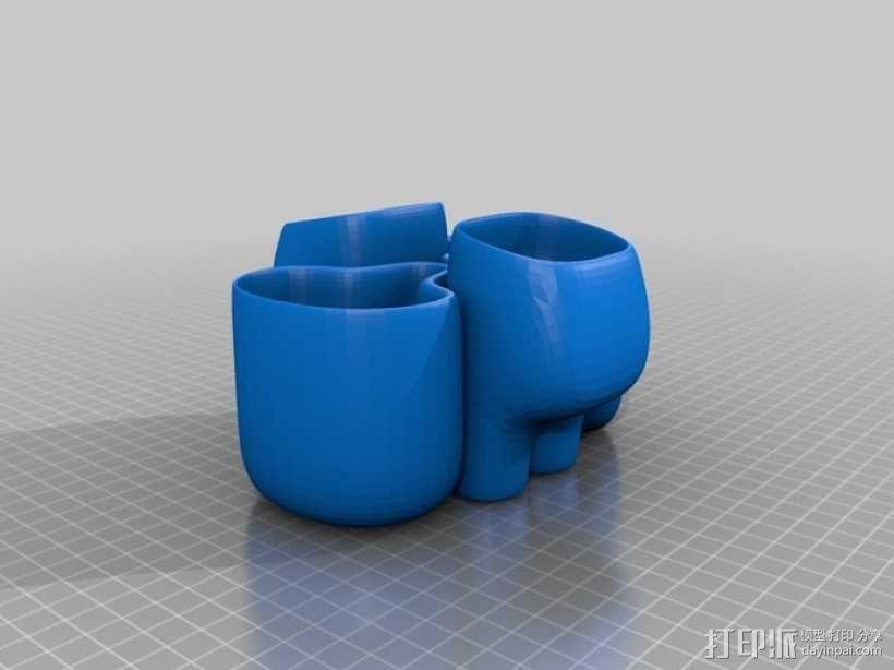 花盆#4 3D模型  图1
