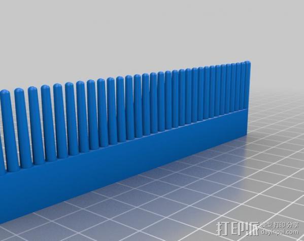 特制梳子 3D模型  图1