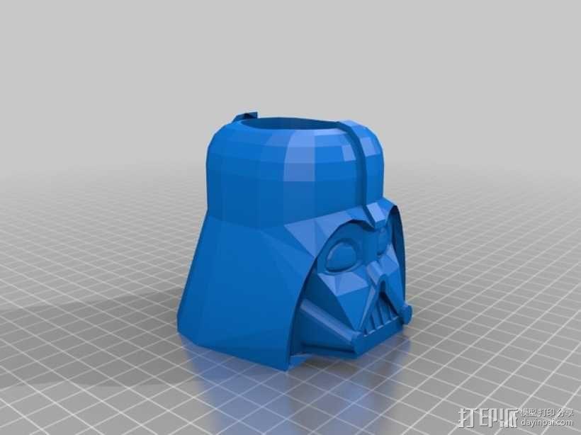 达斯·维德笔筒 3D模型  图1