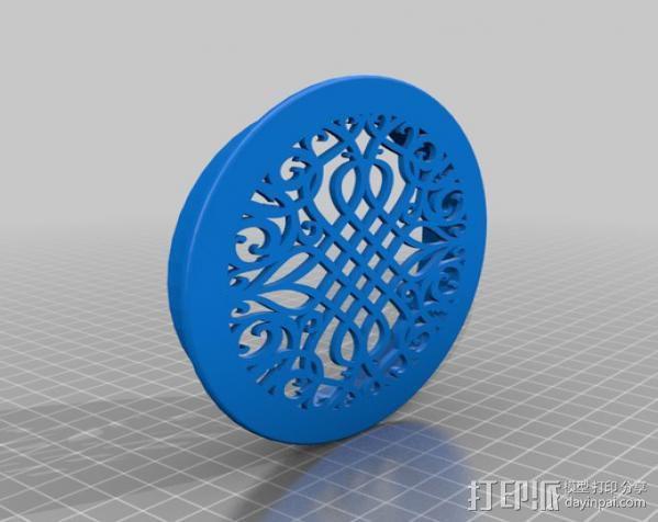 通风格栅 3D模型  图2