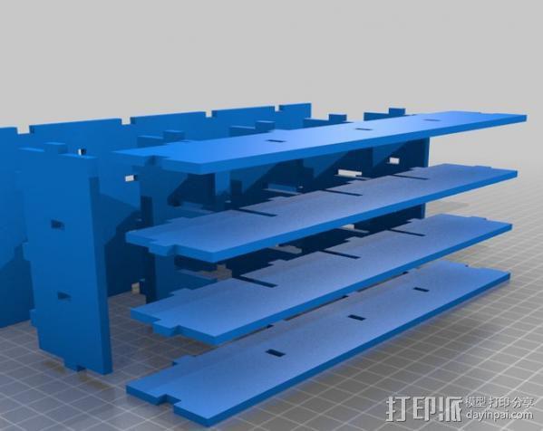 参数化置物架 3D模型  图3