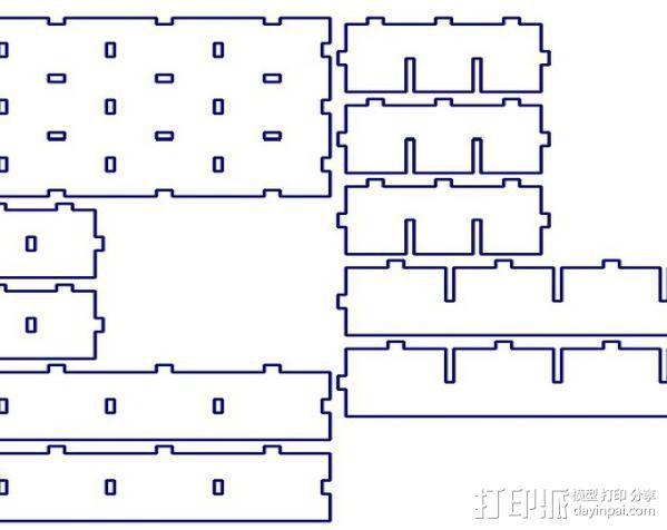 参数化置物架 3D模型  图4