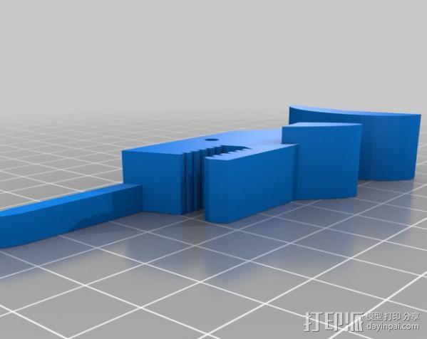 独角鲸鱼夹 3D模型  图4