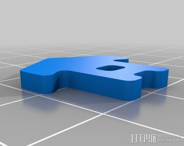 橡皮筋绑带 3D模型  图2