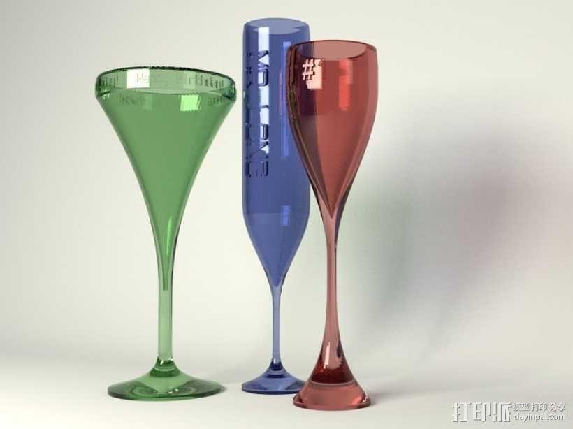 鸡尾酒杯 3D模型  图1