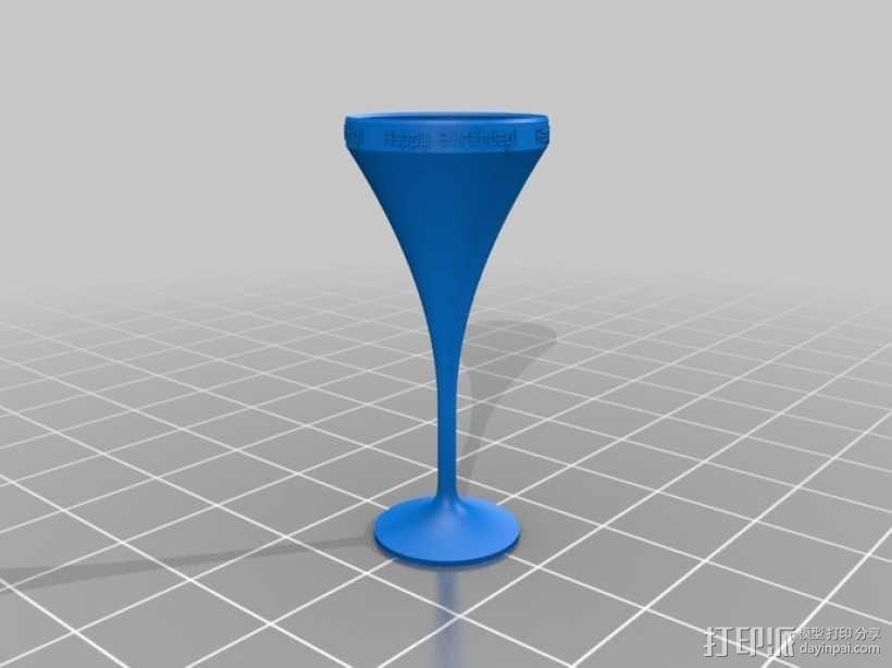 鸡尾酒杯 3D模型  图3