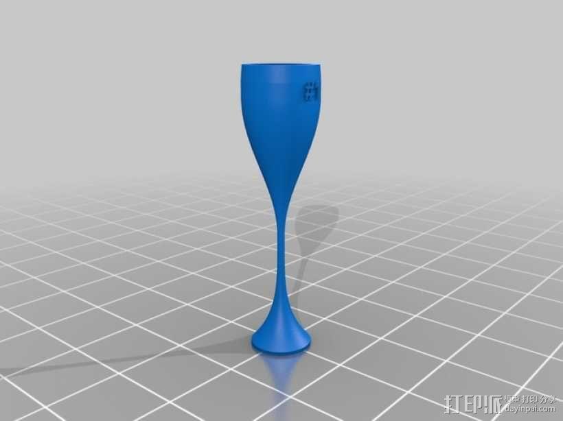鸡尾酒杯 3D模型  图4