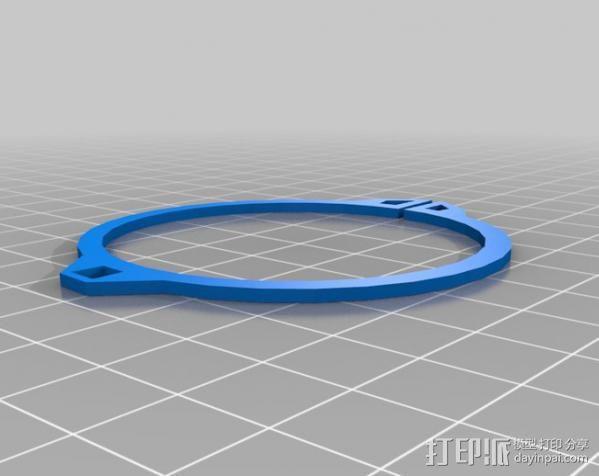 蜂鸟喂水器/喂鸟器 3D模型  图5
