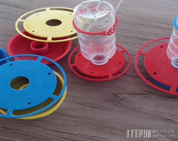 蜂鸟喂水器/喂鸟器 3D模型  图6