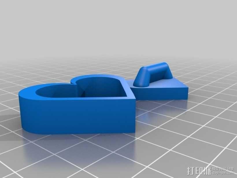 心形小盒 3D模型  图1