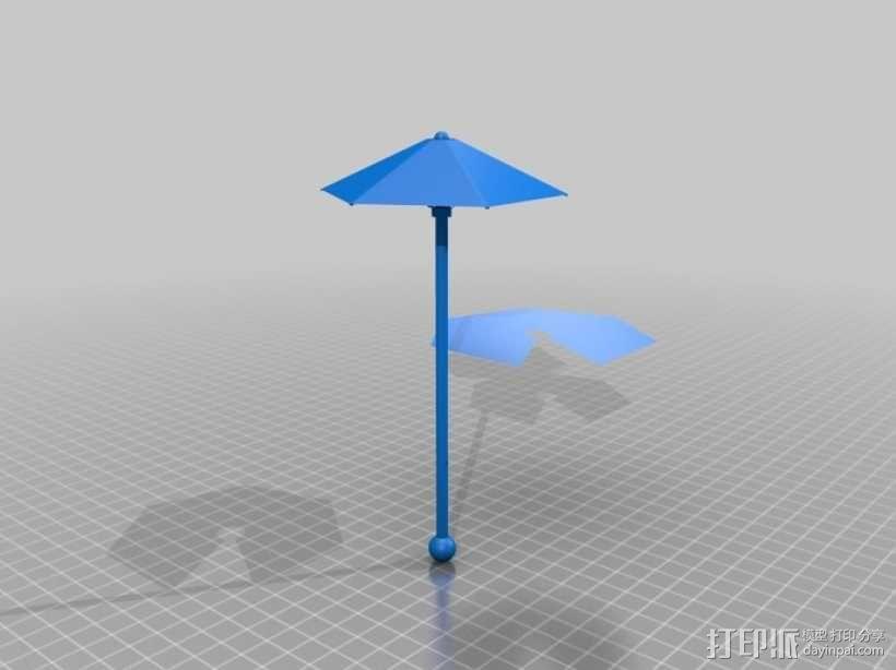 鸡尾酒小伞 3D模型  图1