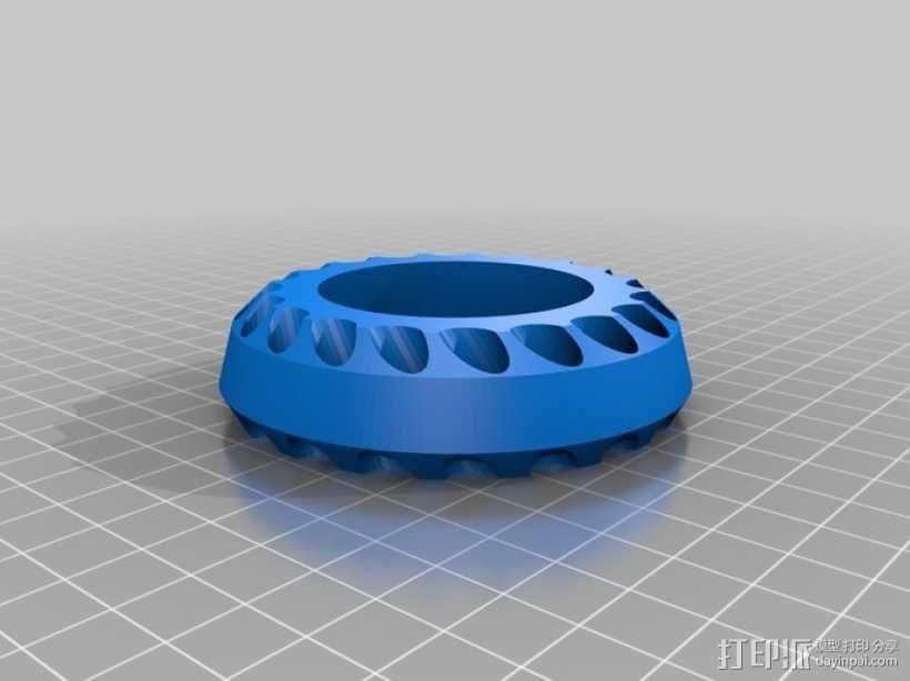 多孔笔筒 3D模型  图1