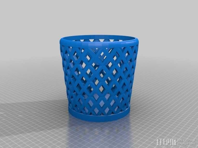 垃圾桶或笔筒 3D模型  图1