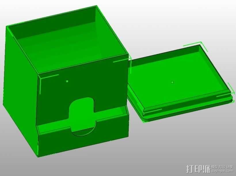 棉签盒 3D模型  图1