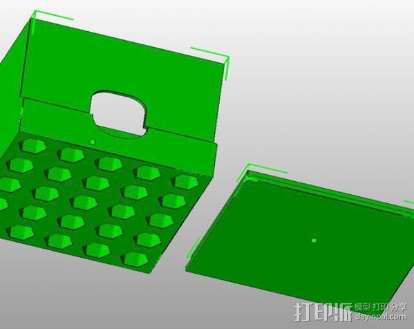 棉签盒 3D模型  图4