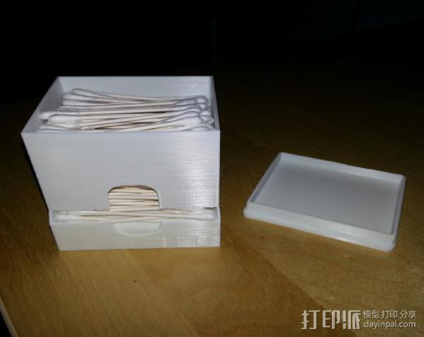 棉签盒 3D模型  图6