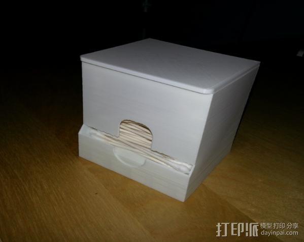 棉签盒 3D模型  图5
