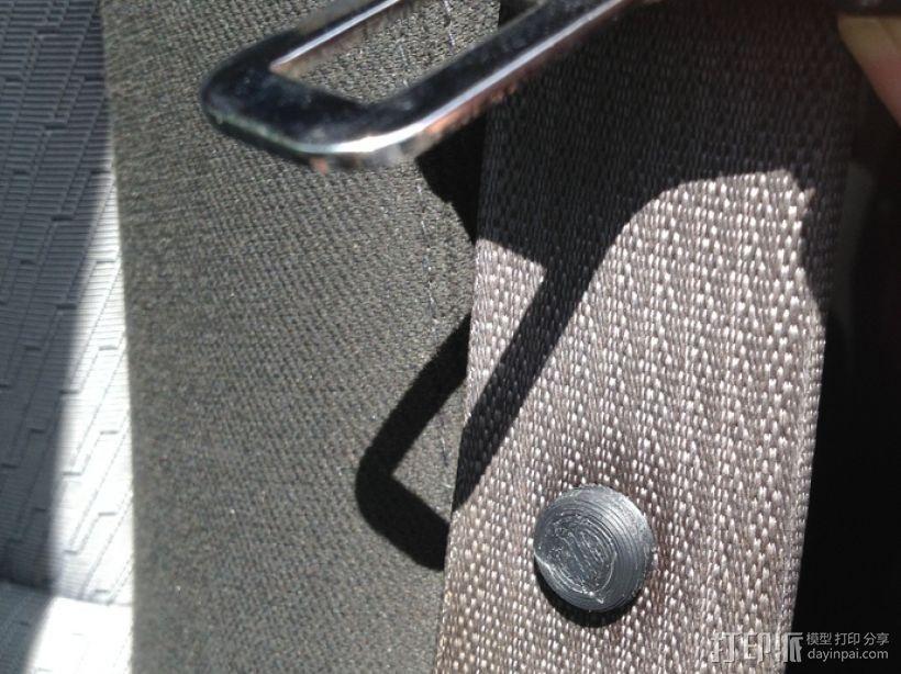 安全带扣子 3D模型  图1