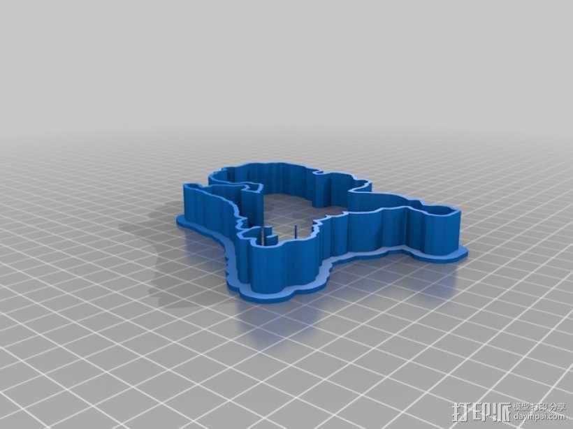 荷兰 饼干制作模具 3D模型  图1