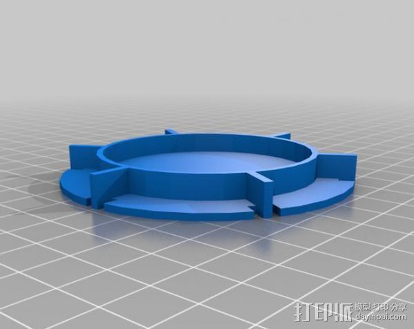 红牛功能饮料发射器底座 3D模型  图1