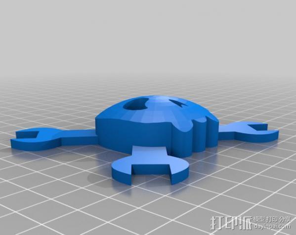 红牛功能饮料发射器底座 3D模型  图3