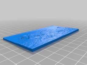 月球表面地图 3D模型