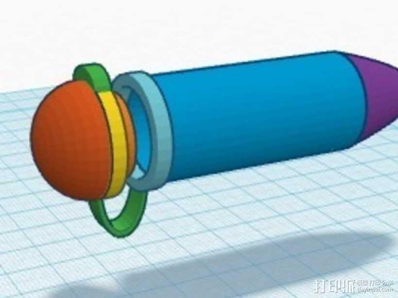聚合酶链反应 试管 3D模型  图2