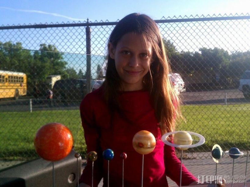 太阳系 模型 3D模型  图1