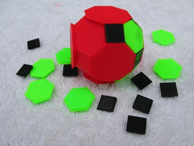 三色阿基米得多面体 3D模型  图1
