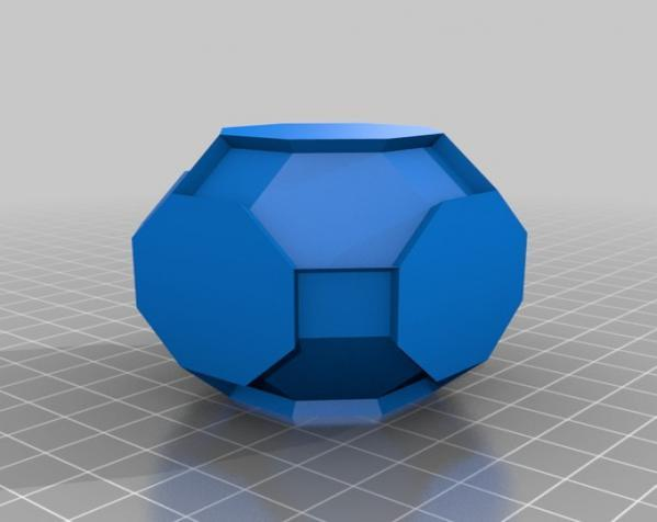 三色阿基米得多面体 3D模型  图3