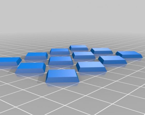 三色阿基米得多面体 3D模型  图4